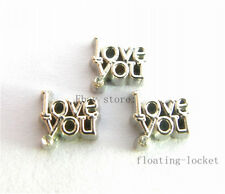10pcs love you Floating charms For Glass living memory Locket FC0816