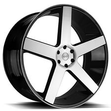 "22"" Azad Wheels AZ5198 Black Machined Rims and Tires PKG"