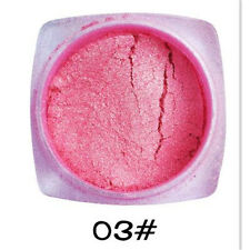 Pure Pink Chrome Mirror Silver Metal Magic Powder Pigment Nail Not Sequins W783