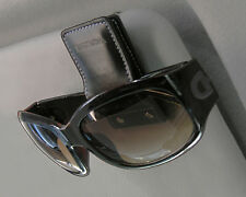 New Sun Visor Leather Sunglasses Holder Clip Car Accessories