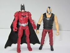 "DC  Batman 4"" Toy Figure Set  RED ARMOUR BATMAN vs BANE"