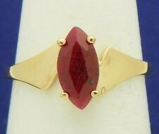 RUBY SOLITAIRE RING SOLID 10K GOLD 1.8g SIZE 7