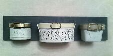 """METAL TIN WALL ORGANIZERS BATH KITCHEN 24"""" UPCYCLED CONTAINERS WALL DECOR ART"""
