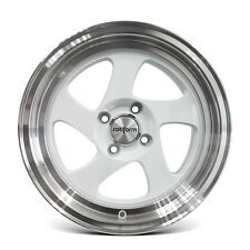 4 x ROTIFORM ZX060 15X7.0 ET32 4X100 SPORTS MAGS ALLOY WHEELS WHITE LP