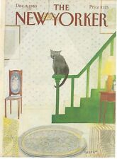 COVER ONLY~ The New Yorker magazine December 8 1980 Sempe Sempé Cat on Banister