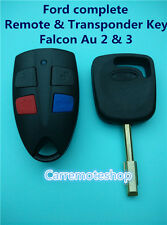 Ford Falcon Au 2 & 3 complete Remote & Transponder Key suits AU2 AU3 Falcon