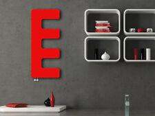 RED Heated Towel Rail Designer Radiator E-Type 360 mm Wide 866 mm High Bathroom