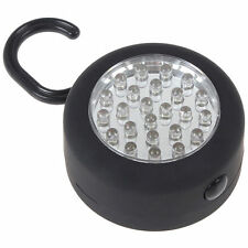 Round 24 LED Hanging Inspection Outdoor Camping Light Lamp + Hook and Magnet
