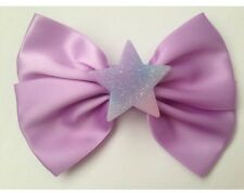 Pastel Purple Fairy Kei Hair Bow Glitter Star Kawaii Harajuku Pastel Goth