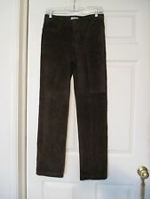 GAP brown suede leather pants Vintage Size 4