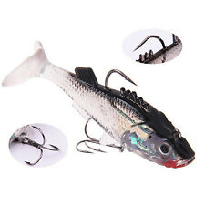 7.6cm Soft Lures Bass Trout Shad Crank Worm Fishing Sharp Baits Latest