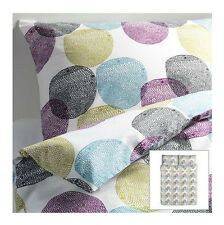 IKEA duvet cover 2 pillowcases FULL/QUEEN concealed snaps bedroom Malin Rund NEW