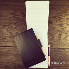 Police Style Elasticated Notebook with Pencil 96 Sheet Note Pad Referee book A6