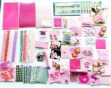 STOCK LOTTO SCRAPBOOKING HOBBY CREATIVI CANDY PINK 50PZ NASTRI LETTERE WASHI