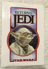 STAR WARS VINTAGE FAN CLUB RETURN OF THE JEDI YODA STICKER RALPH MCQUARRIE