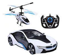 BMW i8 & Helicopter Speed Twins 1:14 RC ferngesteuert Auto Rastar 49600-14