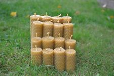 "HANDMADE PURE BEESWAX CANDLES ""SET OF 12 CANDLES"" 100 % ORGANIC"
