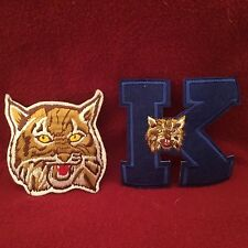 UNIVERSITY OF KENTUCKY WILDCATS LOGO PATCHES (2) NEW VINTAGE