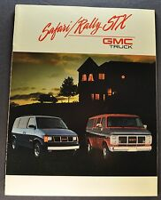 1989 GMC Van Truck Brochure Rally STX Safari Excellent Original 89 Canadian