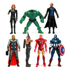 Lot of 7Pcs Super Hero The Avengers Action Figurines America Captain Kids Toys