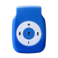 Mini Clip Metal USB MP3 Player Support Micro SD TF Card Music Media Blue NICE