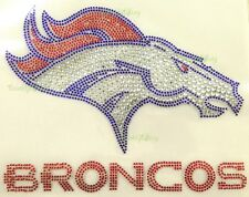 "HOTFIX RHINESTONE HEAT TRANSFER SUPER BOWL ""DENVER BRONCOS"""