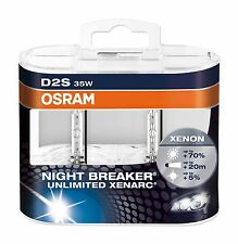 2 Stück OSRAM D2S 66240 XNB Night Breaker Unlimited Xenarc in Duo Hard Box NEU