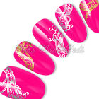 Nail Art Water Transfers Stickers Decals Wraps Mehndi Silver or Gold Choice C058