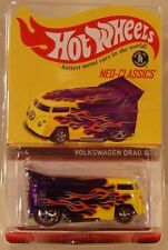 2016 Hot Wheels HWC/RLC Neo-Classics Volkswagen Drag Bus Purple w/Flames IN HAND