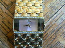 SALE Jennifer Lopez gold tone and rhinestone watch with fresh battery very rare