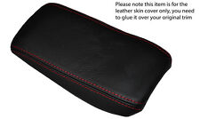 RED STITCH ARMREST LEATHER SKIN COVER FITS ALFA ROMEO GTV SPIDER 916 PHASE 2