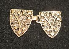 Gewandhaken Gewand Schließe BRONZE  Wappen  Mittelalter Medieval Ritter