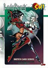 2013 5finity Lady Death vs Shi Comic Con SDCC Factory Sealed Sketch Card Pack