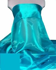IRIDESCENT ORGANZA POLY FABRIC TURQUOISE 941 PAGEANT DRESSES, FORMAL. CRAFTS 58""