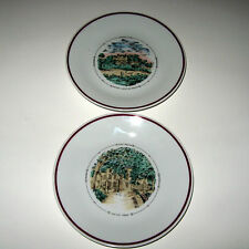 "Set 2 Plates 6"" Philippe Deshoulieres Limoges Chateau Lafite Rothschild & Figeac"