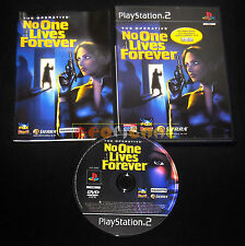 THE OPERATIVE NO ONE LIVES FOREVER Ps2 Versione Italiana 1ª Edizione •• COMPLETO