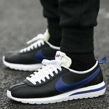 NIKE ROSHE CORTEZ NM LTR Leather Trainers Gym Casual - UK 9.5 (EUR 44.5) Black