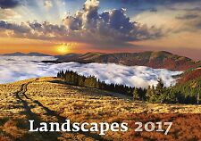 LANDSCAPES - 2017 WALL CALENDAR - BRAND NEW - POSTER STYLE SCENIC N121