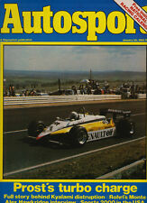 Autosport 28 Jan 1982 - South African Grand Prix Renault Prost, Sprints, Autotes