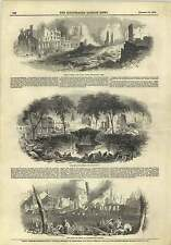 1845 Grievous Fire New York Bowling Green Broadway Market Field Street Map