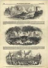 1845 Grievous Fire New York Bowling Green Broadway Market Field Street Map