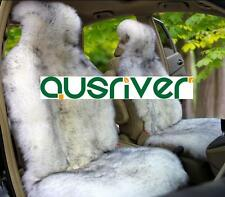 Grey Colour Premium Australian Sheep Skin Car Long Wool Front Single Seat Cover