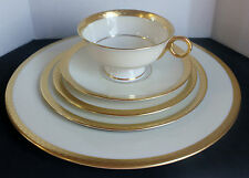 Haviland Theodore  New York  Madison Pattern Gold Laurel 5 piece Place Setting