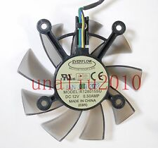75mm R128015SU Fan for Video Card Asus EAH5830  8600 9800g 9600 GTS450 260