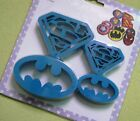 Batman and superman logo baking biscuit pastry cookie cutter 4pcs set