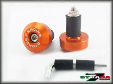 Strada 7 Racing CNC Orange Handle Bar Ends KTM RC8 R 1290 Super Duke R 690 Duke