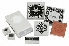 Ek Tools Stamp & Punch Set Winter SNowflake Scrapbooking 54-92009