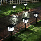 4 Pcs Outdoor Bright White LED Solar Power Lawn Landscape Path Lights Yard Lamps