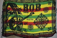 Bob Marley Sarong Throw Altar cloth beach wall art hanging rasta legend Guitar