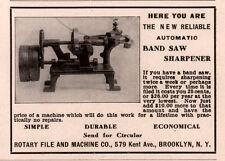 1906 A AD ROTARY FILE MACHINE CO BROOKLYN BAND SAW SHARPENER